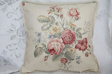 Jaclyn Smith Floral Bouquet Shabby Chic Style Cottage Rose PILLOW LACE