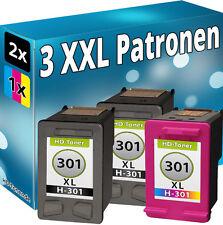 3x TINTE PATRONEN für HP Officejet 2620 2622 4630 4632 4634 4636 Drucker 301XL