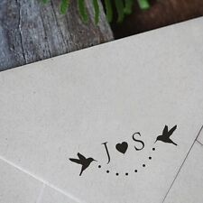 Personalized Custom Couple Initial Wedding Handle Mounted Rubber Stamp RE737