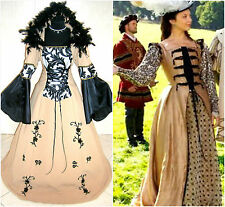 MEDIEVAL DRESS 20-22-24 XL-2XL-3XL WEDDING GOTH WITCH COSTUME VAMPIRE WICCA LARP