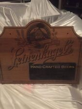 Leinenkugel Wooden Sign With Chalkboard.
