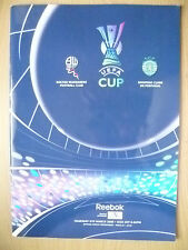 UEFA CUP PROGRAMME 2008- BOLTON WANDERERS v SPORTING CLUBE DE PORTUGAL (ORG*Exc)