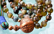 Dragon Vein Agate Prayer Beads Handmade Mala Beads Nirvana Necklace - For Healin