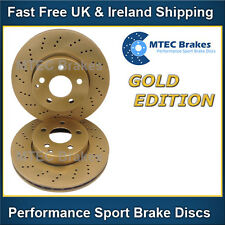 C-Class C32 AMG W203 01-04 Front Brake Discs Drilled Mtec Gold Edition