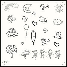 MoYou Nail Fashion Square Stamping Image Plate 501 Trendy Style