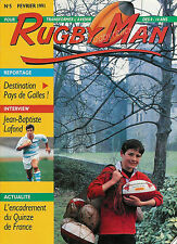 FRANCE - RUGBY MAN No 5 Feb 1991 OFFICIAL FFR MAGAZINE FOR THE YOUNGER READER