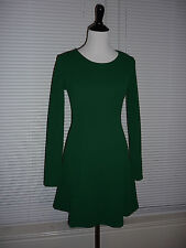 Cute Forever 21 Fit & Flare Dress, Stretch, Forest Green, Work Career Sz S