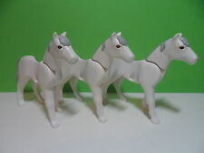 PLAYMOBIL – 3 chevaux blancs / Horse / 3117 3120 3125 3152 3250 3314 4060