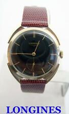 Vintage 14k LONGINES Mens Winding Watch c1956 BEAUTIFUL LOGS* EXLNT Great Runner
