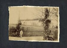 C1890's Original Photo (2) Showing a House Garden Party & Preparation