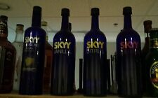 "Sky Vodka display bottle huge 18"" tall set of 4"
