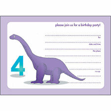 10 Childrens Birthday Party Invitations - 4 Yr Old - Fill-in - BPIF-79 Dinosaur!
