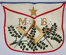 TABLIER de MAITRE FRANC MACON en PEAU. MACONNIQUE, MASONIC, FRANC MAÇONNERIE