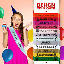 21st 21ST BIRTHDAY 21 TODAY PARTY GIFT PRESENT SASH DECORATION 12 COLOURS CHEAP!