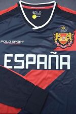 NWT Polo Ralph Lauren Mens UEFA 2016 Spain ESPANA Sport Black Jersey shirt L