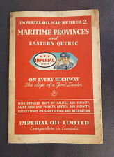 1946 Maritime Provinces & Eastern Quebec road map Imperial Esso oil gas Canada