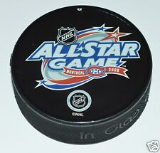 2009 NHL ALL-STAR GAME SOUVENIR PUCK IN GLAS CO. Montreal Canadiens Habs Logo