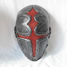 Nice Airsoft Paintball Silver Red Wire mesh Protection Mask Cross Halloween Mask