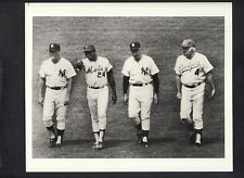 Duke Snider Mickey Mantle Joe Dimaggio Willie Mays 1970's Old Timers Game Photo