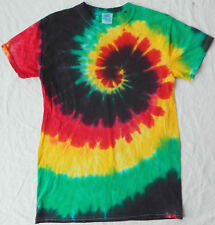 Rasta Psychedelic Tie Dye Short Sleeve T Shirt - Mens Small Cotton Fractal S