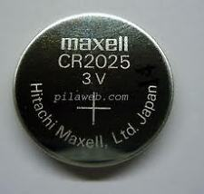 CR2025 Maxell Battery 3V Lithium Button Coin Cell Made In Japan Qty :2 Cel