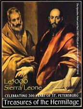 HERMITAGE PAINTINGS S/S MNH from SIERRA LEONE 2003 EL GRECO, JUDAICA, RELIGION