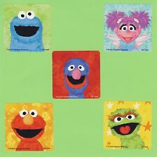 15 Sesame Street Chalk- Large Stickers - Elmo, Grover, Cookie Monster, Oscar
