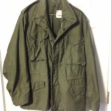 Vintage US Military Olive Drab Field Coat Jacket M65 Size Small No Liner