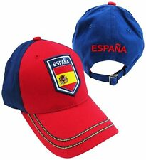 Spain 2014 Team Patch Red / Blue Two Tone Bent Brim Adjustable Buckle Hat / Cap