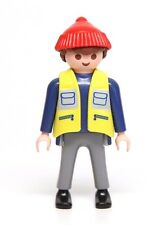 Playmobil Figure Harbour Freight Cargo Dock Worker w/ Red Knit Hat Conlines 4474