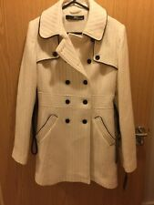 Jane Norman Trench Coat (WHITE/TEXTURED) NEW WITH TAGS. SIZE UK 12.