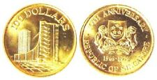 23-00577 # SINGAPORE | COMM,10th ANNIVERSARY OF SINGAPORE,GOLD, $ 100, 1975, UNC