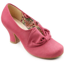 NEW HOTTER DONNA SUEDE HEEL SHOES. PINK. SIZE 7.5. 7 1/2. RRP £85 BESTSELLER