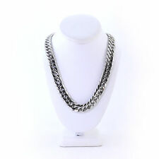 SOLID STAINLESS STEEL SILVER FINISH THICK HEAVY MIAMI CUBAN LINK CHAIN 16MM JayZ