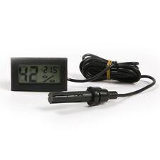 Digital Thermometer Hygrometer Probe Humidity Meter Aquarium/Reptile/Incubator
