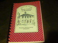 1993 What's Cooking In Bloomfield by Wintonbury Historical Society of Bloomf  s6
