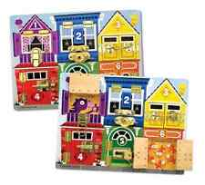 New Melissa & Doug Latches Wooden Activity Board Fine Motor Skills For The Youth
