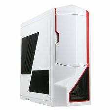 NZXT Phantom Full Tower Chassis Gaming PC Case - White Red