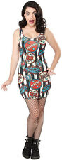 130295 Black & White Striped Welcome to the Sideshow Dress Sourpuss X-Large XL