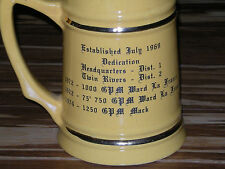 1974 EAST WINDSOR FIRE DEPARTMENT CO 1 BEER STEIN OLD MUG~CUP~~MADE IN USA