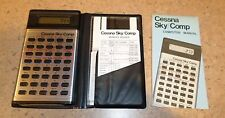 CESSNA SKY COMP COMPUTER WITH MANUAL - MEMORY JOGGER - NAVIGATION PLOTTER (BL)