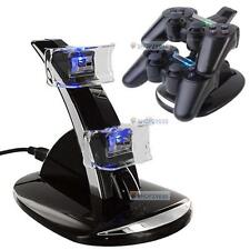 LED Dual Controller Charger Dock Station Stand Charging for Playstation PS3 SP