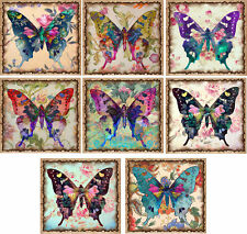 8 Coloured Butterfly Style ~ Card Making Toppers / Scrapbooking / Crafting