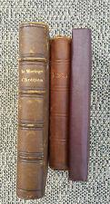 Lot d'anciens livres religieux chrétien divers missels french antique religious