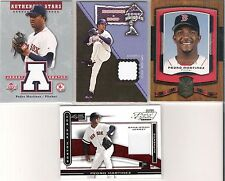 PEDRO MARTINEZ RED SOX 4 - COUNT LOT W/ 3 JERSEY CARDS