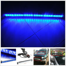 24 LED Cree Spot Roof Marker Blue Strobe Flash Light For 4x4 Offroad SUV Truck