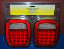 PAIR LED SURFACE MOUNT (JEEP STYLE) STOP TURN TAIL LIGHTS UNIVERSAL #58405 ~SS2~