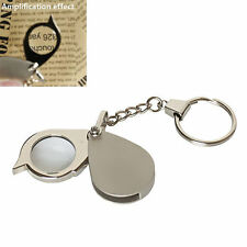 Portable Pocket 8x Folding Key Ring Magnifier with Key Chain Daily Magnifying