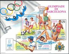 San Marino 1992 Olympic Games/Olympics/Shooting/Football/Basketball m/s (n43396)