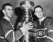 Montreal Canadiens MAURICE RICHARD & JEAN BELIVEAU Glossy 8x10 Hockey Poster